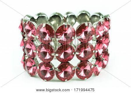Diamond bracelet isolated on a white background