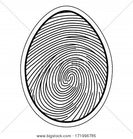 fingerprint image of the finger curls of the capillaries, vector concept identification and security data storage