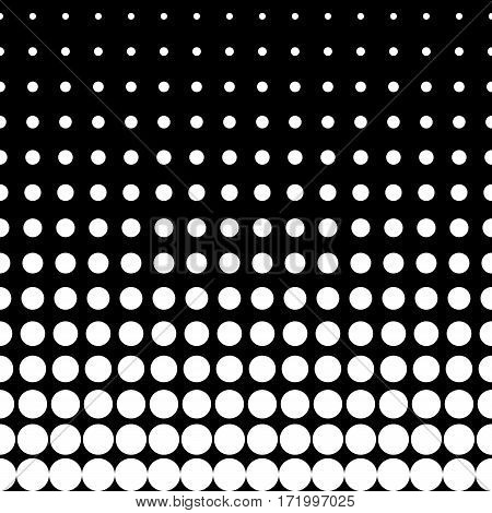 Vector monochrome seamless pattern, different sized circles & dots, vertical rows, black & white halftone transition. Modern stylish texture. Design for print, decoration, cover, web, digital, textile
