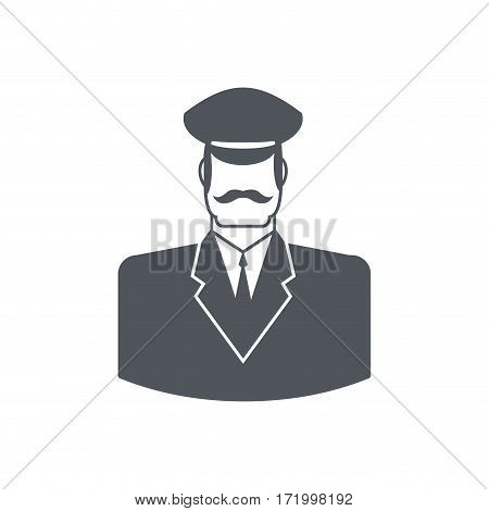 Porter Icon. Concierge Sign. Guard At Entrances Of Apartment Houses, Hotels, Offices. Gatekeeper For