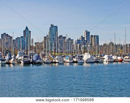 Nice view of Harbor, Vancouver, British Columbia, Canada