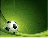 Soccer design background poster