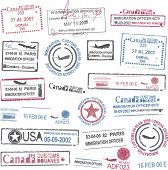 Passport stamps poster