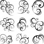Vector decorative swirling flourishes poster