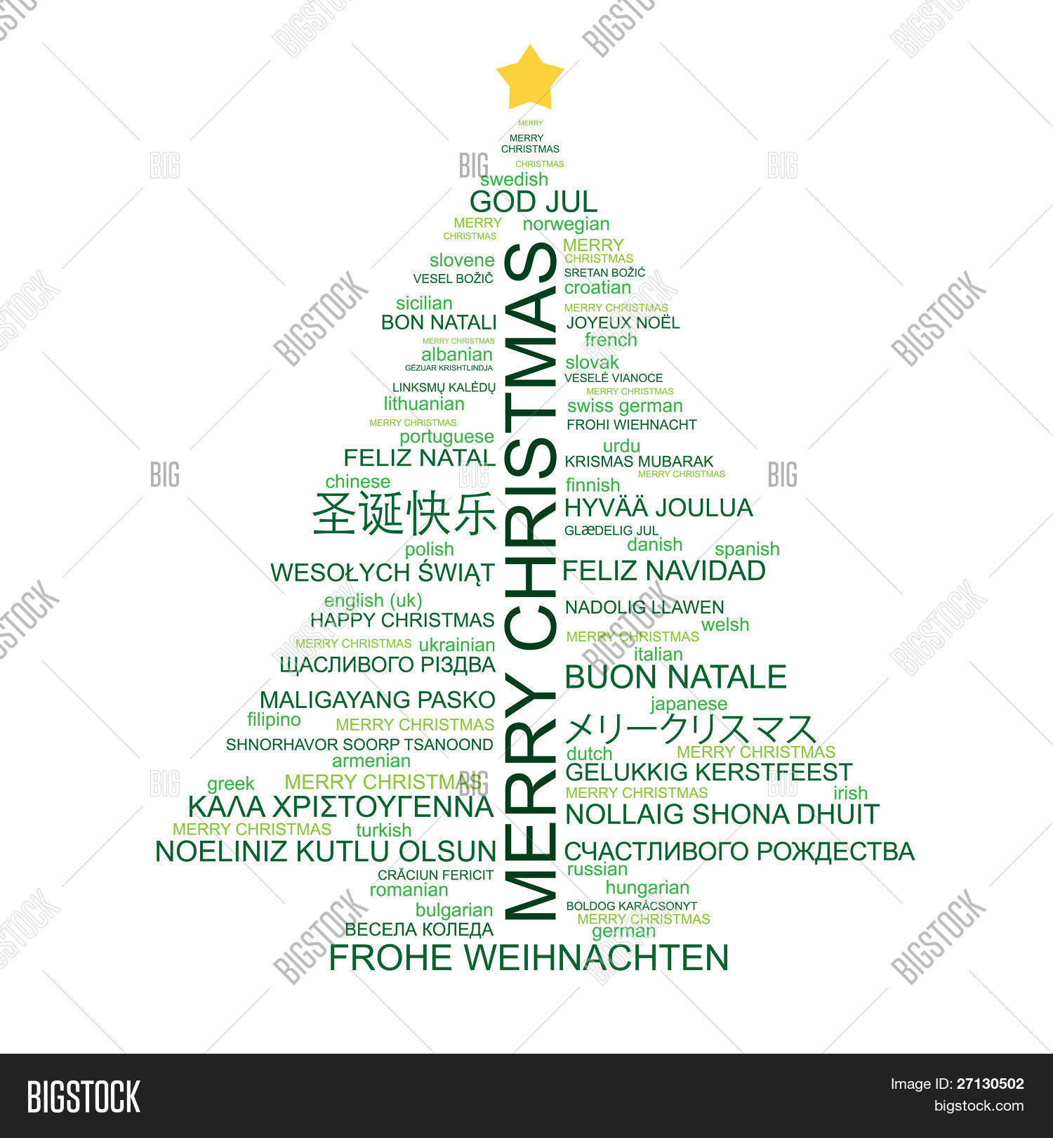Christmas Tree Shape From Letters