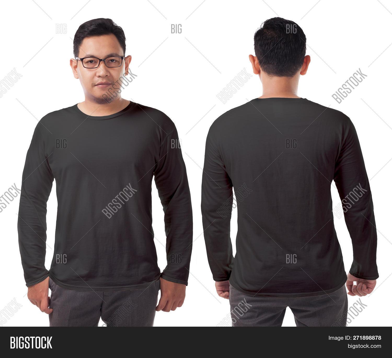 Black Long Sleeved T Image Photo Free Trial Bigstock