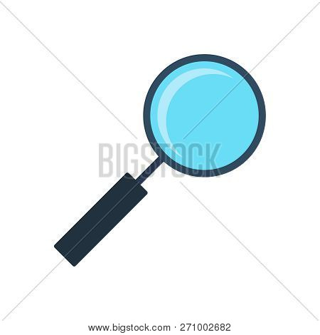 Vector Loupe. Flat Illustration. Vector Colorful  Loupe Icon. Magnifying Glass.