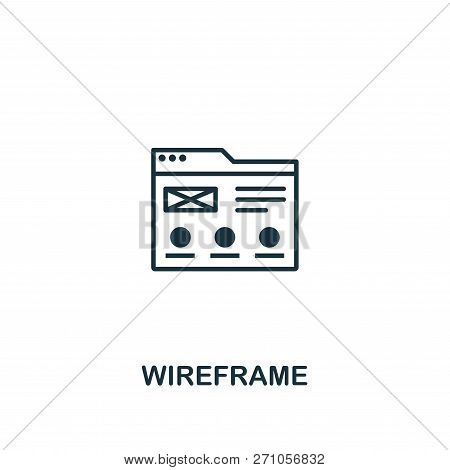 Wireframe Icon. Premium Style Design From Design Ui And Ux Icon Collection. Pixel Perfect Wireframe