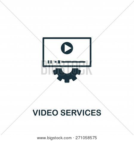 Video Services Icon. Premium Style Design From Design Ui And Ux Icon Collection. Pixel Perfect Video