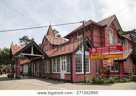 Nuwara Eliya, Sri Lanka - August 6, 2018: Exterior View Of The Post Office Building, One Of The Olde