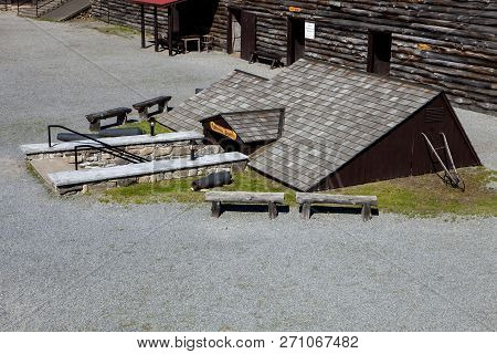 The military Crypt at Fort William Henry in Lake George New York poster