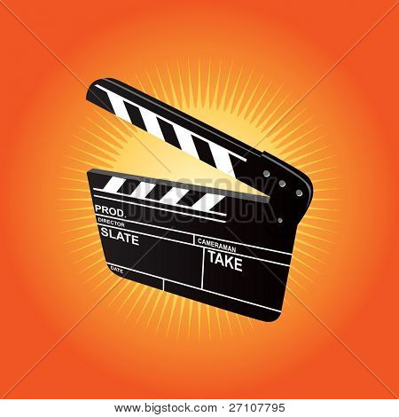 Film Clapboard - also available vector version in this gallery