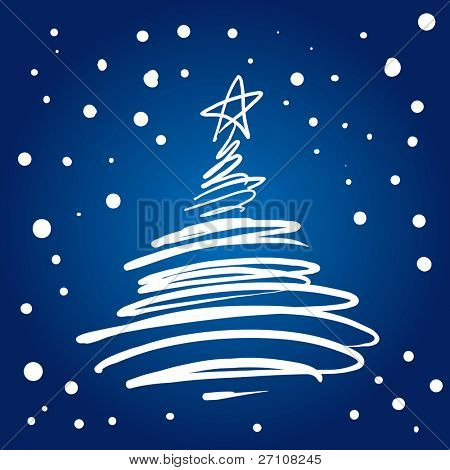 Christmas Tree Flourish (vector). In the gallery also available XXL jpeg image made from this vector