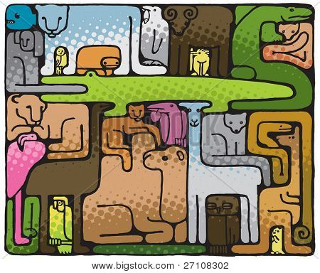 Animal Puzzle (vector). In the gallery also available XXL jpeg image made from this vector