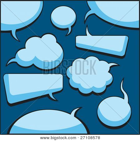 Speech And Thought Bubbles (vector).