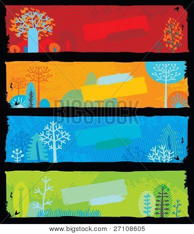 Nature Banners (each banner is scalable to the standart internet banner size 160x600 pix)
