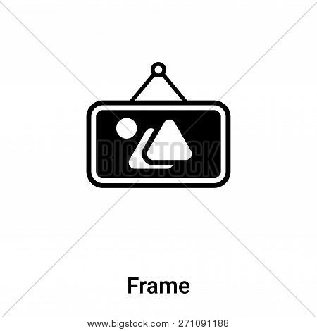 Frame Icon In Trendy Design Style. Frame Icon Isolated On White Background. Frame Vector Icon Simple