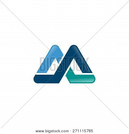 Logo, Abstract, Vintage Old Style Logo Icon Monogram. Letter Am Logo. Royal Hotel, Premium Boutique,