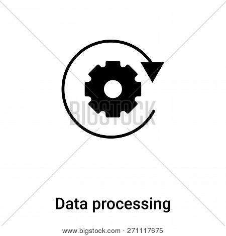 Data Processing Icon In Trendy Design Style. Data Processing Icon Isolated On White Background. Data