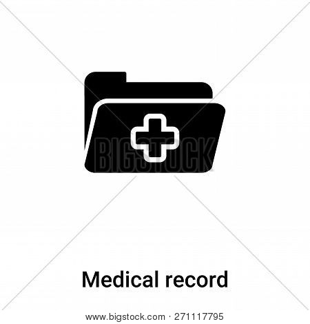 Medical Record Icon In Trendy Design Style. Medical Record Icon Isolated On White Background. Medica