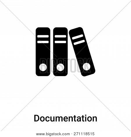 Documentation Icon In Trendy Design Style. Documentation Icon Isolated On White Background. Document