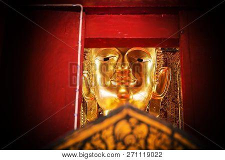 Buddha Statue At Wat Phumin Temple.nan Province  Thailand .