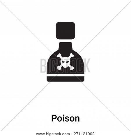 Poison Icon In Trendy Design Style. Poison Icon Isolated On White Background. Poison Vector Icon Sim