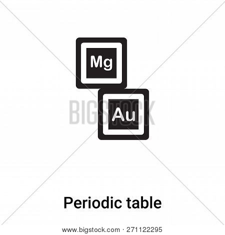 Periodic Table Icon In Trendy Design Style. Periodic Table Icon Isolated On White Background. Period