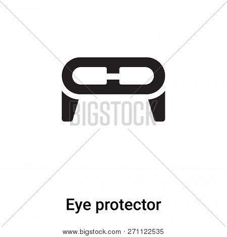 Eye Protector Icon In Trendy Design Style. Eye Protector Icon Isolated On White Background. Eye Prot