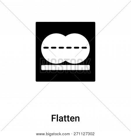 Flatten Icon In Trendy Design Style. Flatten Icon Isolated On White Background. Flatten Vector Icon