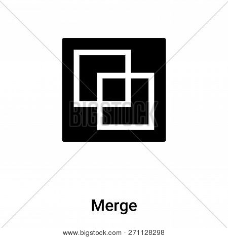 Merge Icon In Trendy Design Style. Merge Icon Isolated On White Background. Merge Vector Icon Simple