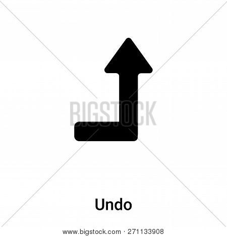 Undo Icon In Trendy Design Style. Undo Icon Isolated On White Background. Undo Vector Icon Simple An