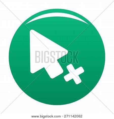 Cursor Failure Icon. Simple Illustration Of Cursor Failure Vector Icon For Any Design Green