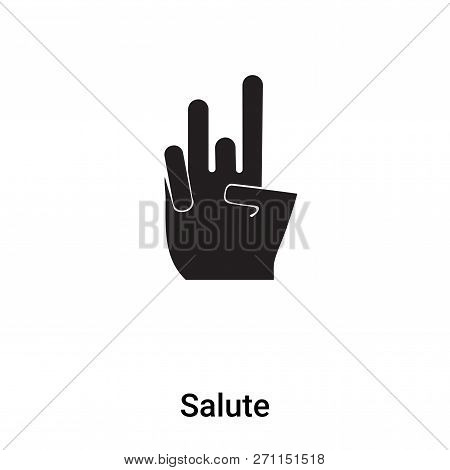 Salute Icon In Trendy Design Style. Salute Icon Isolated On White Background. Salute Vector Icon Sim