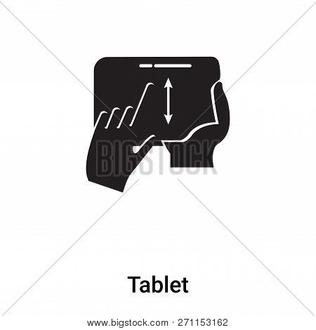 Tablet Icon In Trendy Design Style. Tablet Icon Isolated On White Background. Tablet Vector Icon Sim