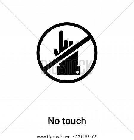 No Touch Icon In Trendy Design Style. No Touch Icon Isolated On White Background. No Touch Vector Ic