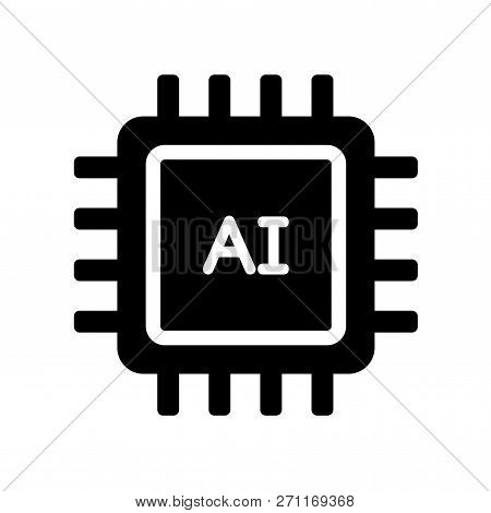 AI icon. Trendy flat vector AI icon on white background from Artificial Intellegence and Future Technology collection. High quality filled AI symbol use for web and mobile