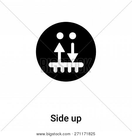 Side Up Icon In Trendy Design Style. Side Up Icon Isolated On White Background. Side Up Vector Icon