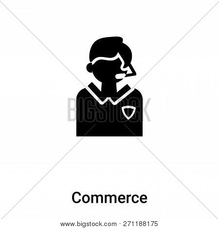 Commerce Icon In Trendy Design Style. Commerce Icon Isolated On White Background. Commerce Vector Ic