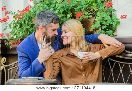 Girl Dating With Businessman. Dating Businessman. Couple Cuddling Cafe Terrace. Things Know Before Y