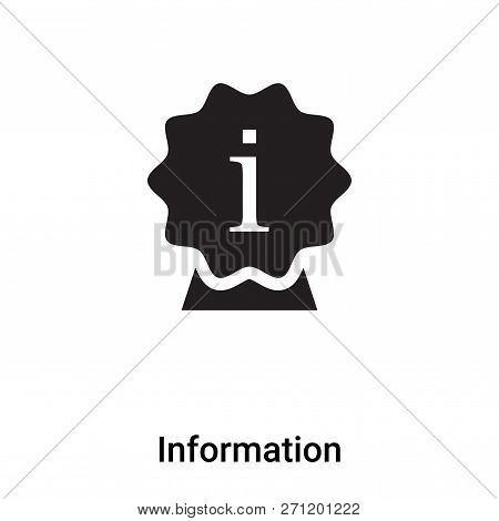Information Icon In Trendy Design Style. Information Icon Isolated On White Background. Information