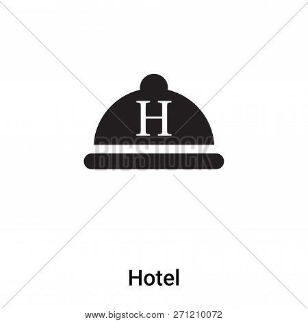 Hotel Sign Icon In Trendy Design Style. Hotel Sign Icon Isolated On White Background. Hotel Sign Vec