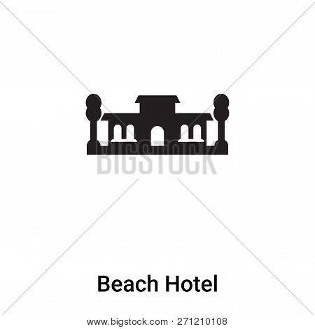 Beach Hotel Icon In Trendy Design Style. Beach Hotel Icon Isolated On White Background. Beach Hotel