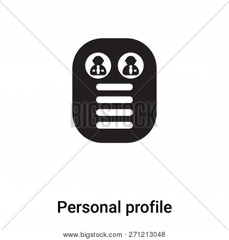 Personal Profile Icon In Trendy Design Style. Personal Profile Icon Isolated On White Background. Pe