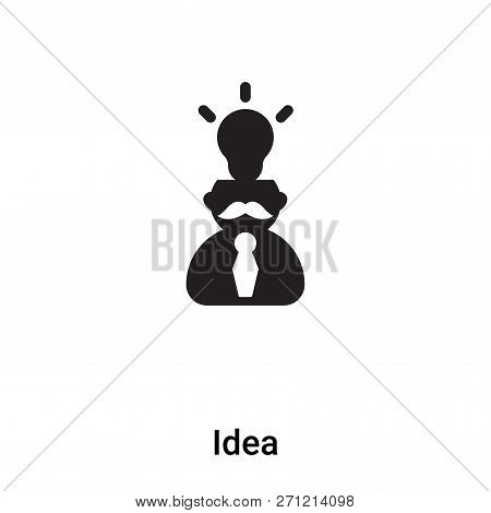 Idea Icon In Trendy Design Style. Idea Icon Isolated On White Background. Idea Vector Icon Simple An