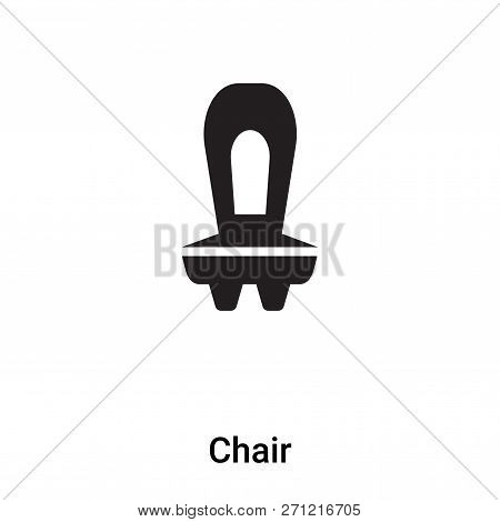Chair Icon In Trendy Design Style. Chair Icon Isolated On White Background. Chair Vector Icon Simple
