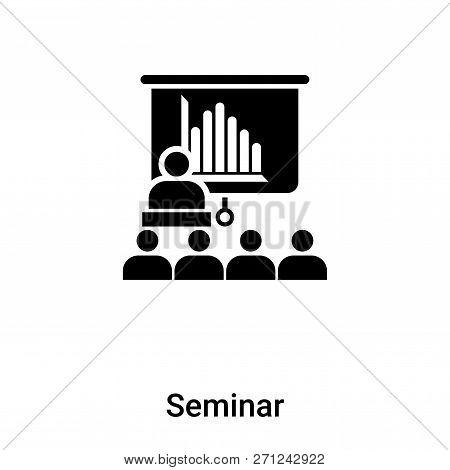 Seminar Icon In Trendy Design Style. Seminar Icon Isolated On White Background. Seminar Vector Icon