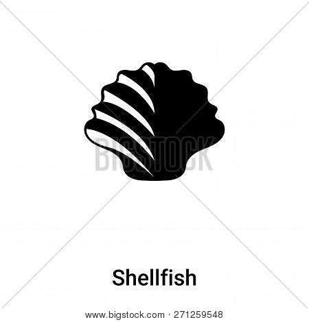 Shellfish Icon In Trendy Design Style. Shellfish Icon Isolated On White Background. Shellfish Vector
