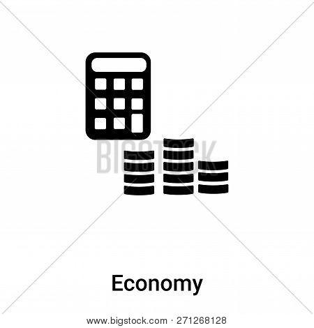 Economy Icon In Trendy Design Style. Economy Icon Isolated On White Background. Economy Vector Icon