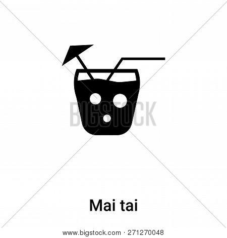 Mai Tai Icon In Trendy Design Style. Mai Tai Icon Isolated On White Background. Mai Tai Vector Icon
